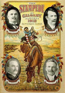 The Big Four appeared on the inaugural Calgary Stampede poster in 1912.