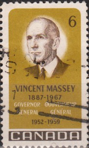 In 1969, Canada Post featured Massey on this six-cent stamp.