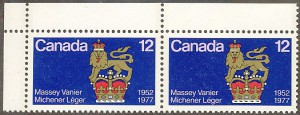 In 1977, Massey graced this 12-cent stamp.