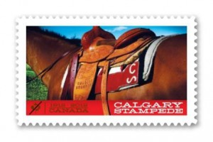 Canada Post issued this domestic-rate Permanent stamp in 2012, marking the 100th anniversary of the Calgary Stampede.