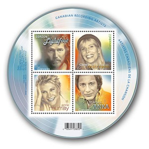 The series also featured Canadian music legends Joni Mitchell (SC #2221b), Anne Murray (SC #2221c) and Paul Anka (SC #2221d).
