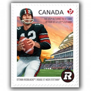 The Redblacks were also featured on this Permanent stamp (SC #2755).