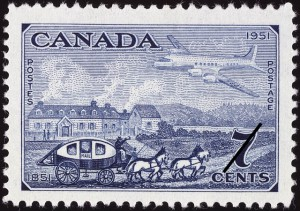 The seven-cent stamp (SC #313) depicts