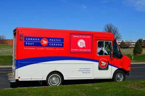 A Canada Post truck in Toronto earlier this year.