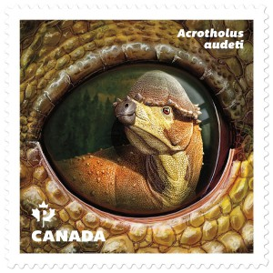 The boneheaded Acrotholus audeti, of Alberta, is featured on this stamp.
