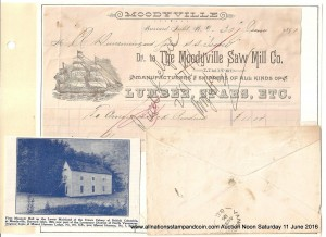 The cover was sent to Moodyville, North Vancouver, along with a bill for lumber. (Photo by All Nations Stamp and Coin)