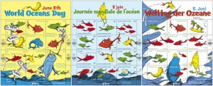 More recently, in 2013, UNPA issued this series marking World Oceans Day.