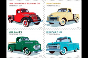 The USPS will also be issuing a classic pickup truck series next month.