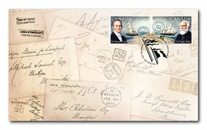 The official first-day cover was