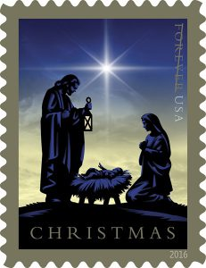 This 'Nativity Scene' stamp was issued by USPS on Nov. 3.