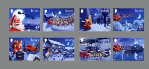 Jersey Post will also issue these eight 'Father Christmas' stamps on Nov. 21.