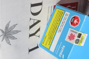 A Box Of Cannabis With An Ontario Excise Stamp Sits On Oct 17 2018 Edition The Globe And Mail First Day Became Legal In Canada