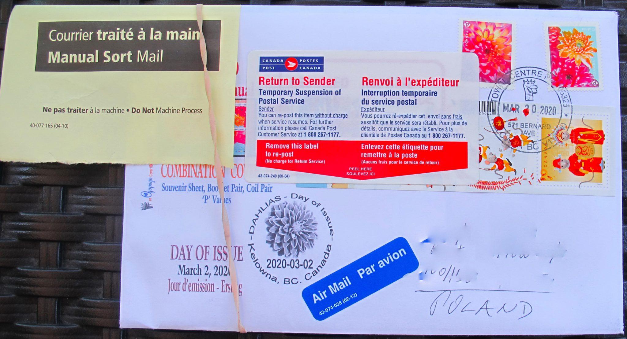 Canada Post Air Mail